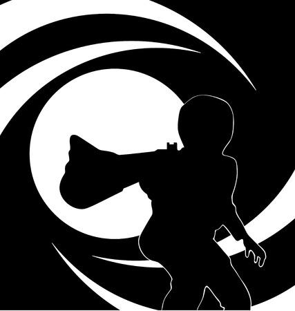bond: bond scene  Illustration