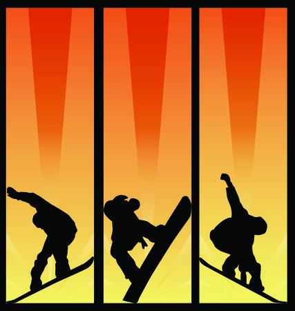 wintersport: snowboard poster