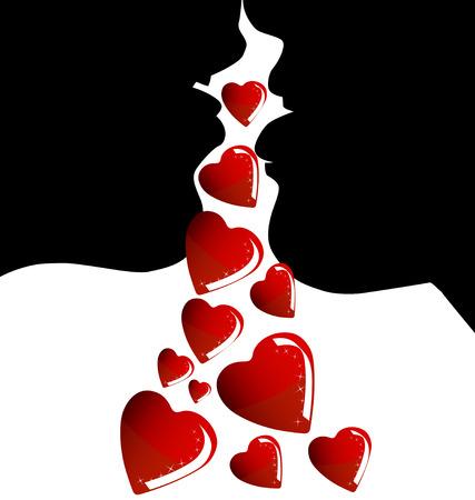 hot day: valentine background Illustration