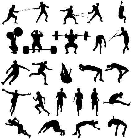 athletic silhouettes collection Stock Vector - 4225914