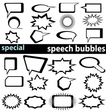 speech bubbles collection Ilustração