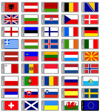 great european flags collection Vector