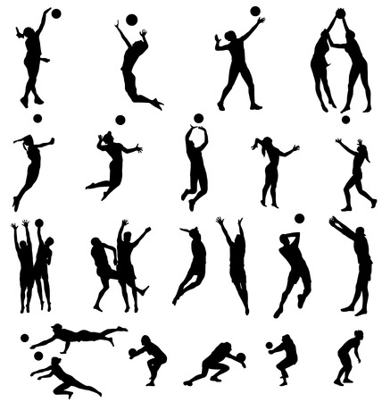 volleyball: volleyball silhouettes