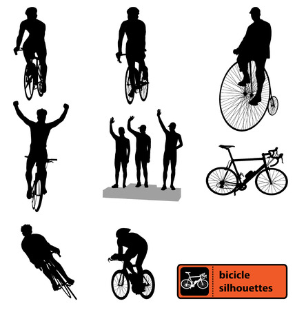 bike silhouettes collection Vector