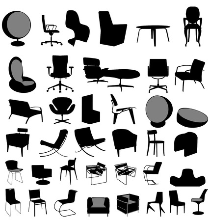 furniture collection Vector