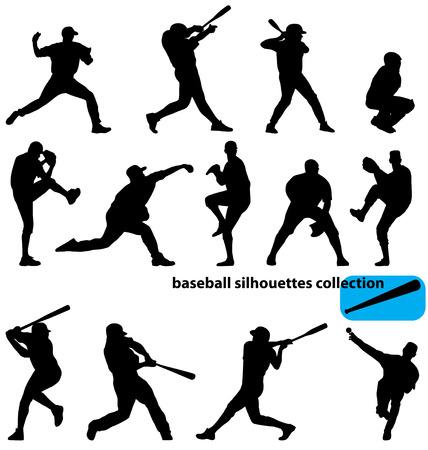 béisbol siluetas colección
