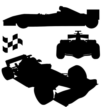 formula 1 silhouettes Illustration