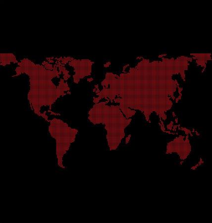 dotted worldmap Vector