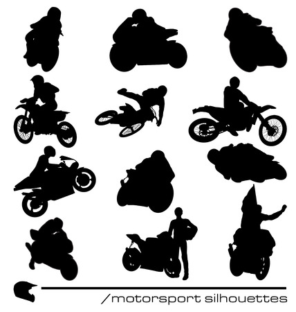 motorsport silhouettes collection Vector