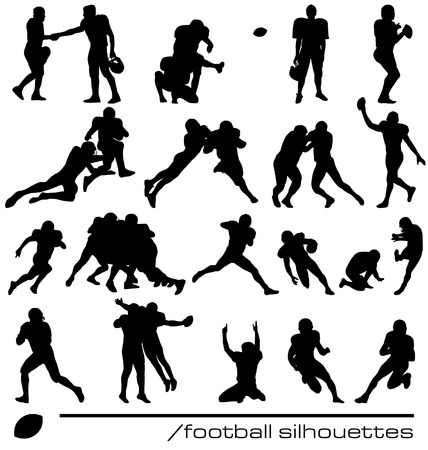 american football silhouettes Vector