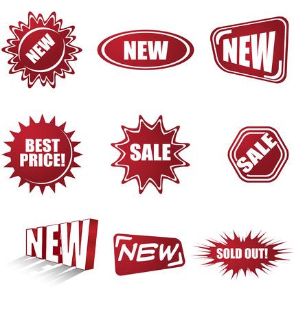 sales stickers Vector