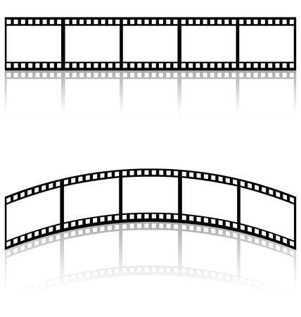 tira de película de plantillas Ilustración de vector
