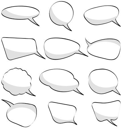 speech bubbles set Stock Vector - 5453091