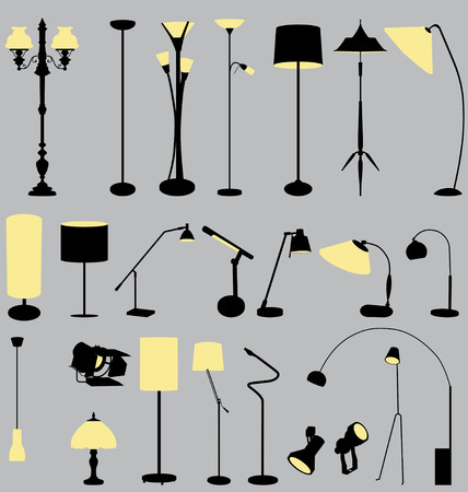 lamps collection Stock Vector - 5564159