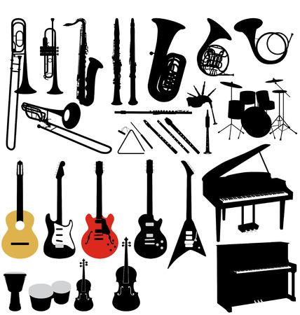 muziek instrumenten, collectie