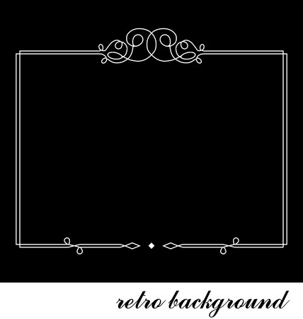 black picture frame: retro background