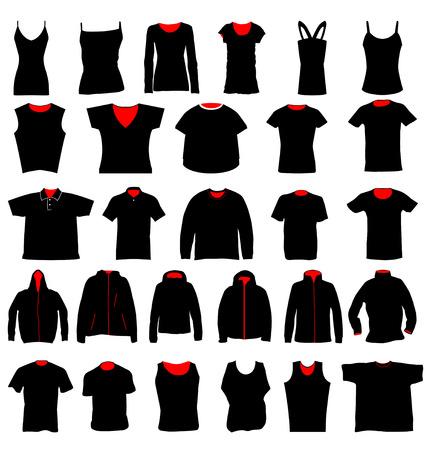 simbolo hombre mujer: plantillas de camisa  Vectores