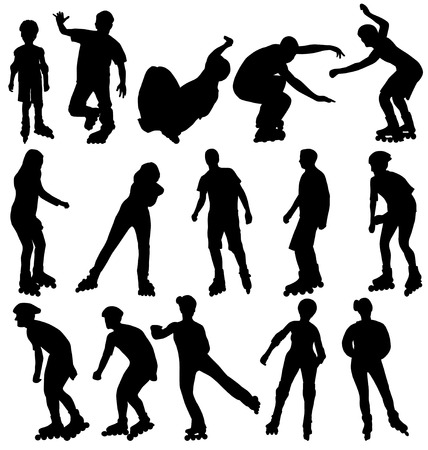 rollerblade: rollerblade silhouettes