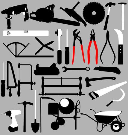 machine tools: tools set Illustration