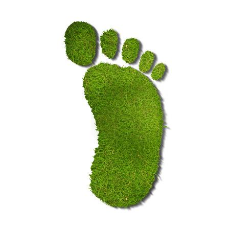 green footprint: ecological footprint Stock Photo