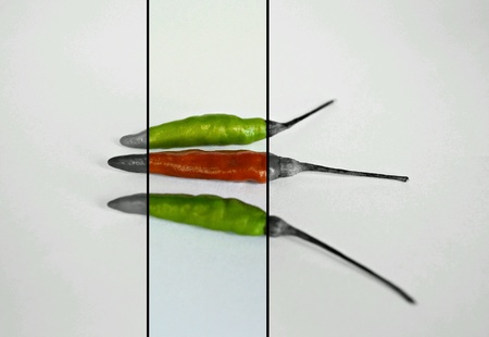 peppery: Colourful of Chilis Stock Photo