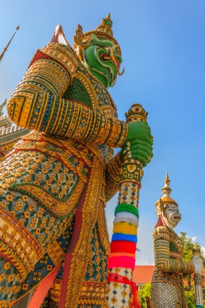 Green Face Giants at Wat Arun Bangkok photo