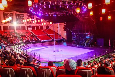 Jeju Island, Korea - November 12, 2016 : The tourist visited Jeju Circus World, One of tourist attractions in Jeju-do.
