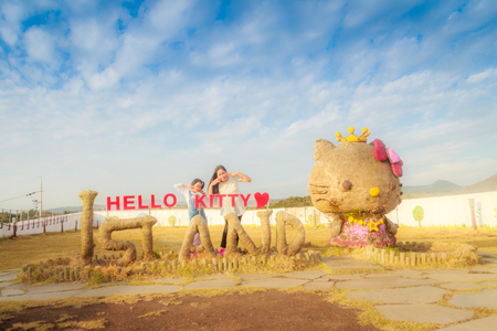 Jeju Island, Korea - November 12, 2016 : The tourist visited HELLO KITTY ISLAND MUSEUM & CAFE IN JEJU, One of tourist attractions in Jeju-do.