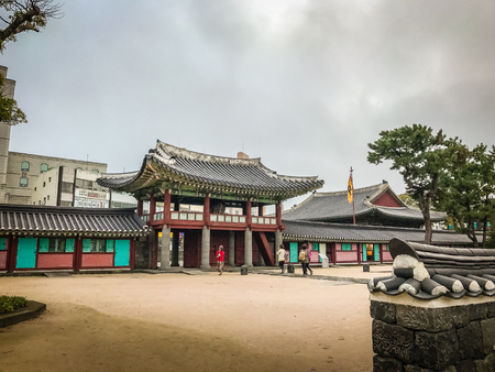 Jeju Mokgwana, the oldest remaining building in Jeju for former central government office where the Joseon Period Magistrate of Jeju from 1392 to 1910