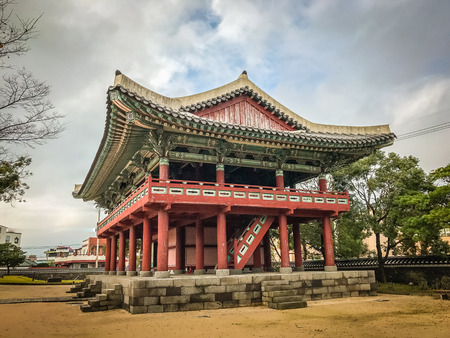 rebuilt: Jeju Mokgwana, the oldest remaining building in Jeju for former central government office where the Joseon Period Magistrate of Jeju from 1392 to 1910