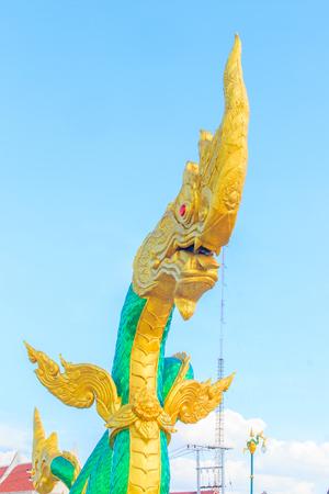 polea: Amazing Naga Sculpture at Mekong Riverside Walking Street in Nongkhai, Thailand