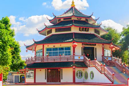 tekka: Tekka Chee Nai Khor Foundation, Beautiful Chinese Pavillion Style at Mekong Riverside, Naimuang, Nongkhai, Thailand
