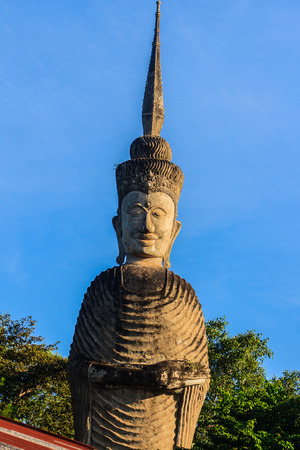 Sala Keoku, the park of giant fantastic concrete sculptures inspired by Buddhism and Hinduism. It is located in Nong Khai, Thailand
