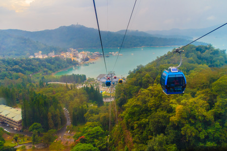 formosa: The Sun Moon Lake Ropeway is a scenic gondola cable car service that connects Sun Moon Lake with the Formosa Aboriginal Culture Village theme park. Editorial