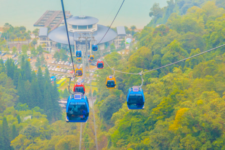 The Sun Moon Lake Ropeway is a scenic gondola cable car service that connects Sun Moon Lake with the Formosa Aboriginal Culture Village theme park. Editorial