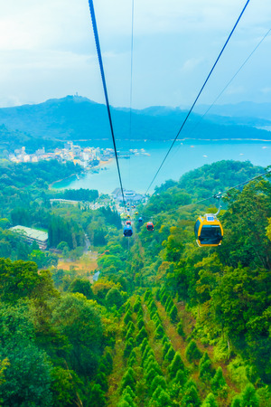 ropeway: The Sun Moon Lake Ropeway is a scenic gondola cable car service that connects Sun Moon Lake with the Formosa Aboriginal Culture Village theme park. Editorial