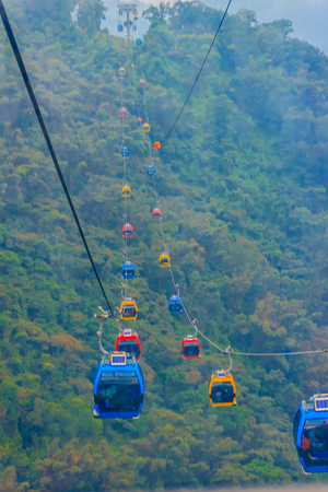 Top view of Sun Monn Lake from the The Sun Moon Lake Ropeway, the scenic gondola cable car service that connects Sun Moon Lake with the Formosa Aboriginal Culture Village theme park. 新聞圖片