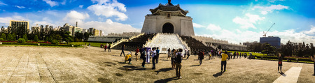 Taipei City, Taiwan - November 22, 2016: The National Chiang Kai-shek Memorial Hall is a national monument, landmark and tourist attraction erected in memory of Chiang Kai-shek, former President of the Republic of China. It is located in Zhongzheng Distri