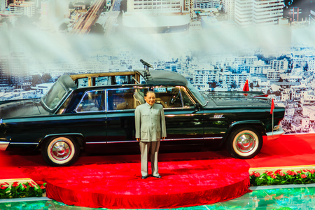 ShenZhen, China - November 15, 2014: Deng Xiaoping wax figure at Shenzhen museum. He was the Chinese revolutionary, statesman and the paramount leader of the Peoples Republic of China from 1978-1989.