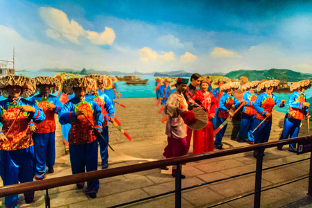 ShenZhen, China - November 15, 2014: Shenzhen museum has kept perfecting treasures with full and accurate materials tell visitors the 6,000 years of history of development process in Shenzhen region. Editorial