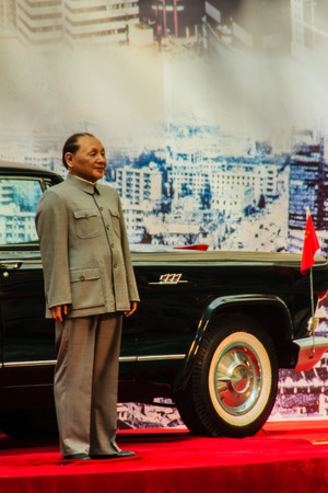 deng xiaoping: ShenZhen, China - November 15, 2014: Deng Xiaoping wax figure at Shenzhen museum. He was the Chinese revolutionary, statesman and the paramount leader of the Peoples Republic of China from 1978-1989.