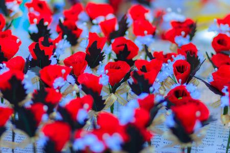 Beautiful red artificial flower poppy flower artificial is symbol beautiful red artificial flower poppy flower artificial is symbol of veterans day stock photo mightylinksfo