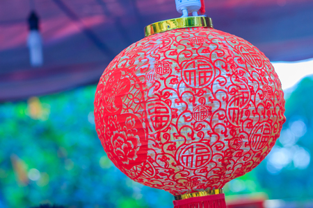 paper textures: Close up shot of red chinese lantern pattern. Detail of Chinese New Year lantern pattern Stock Photo