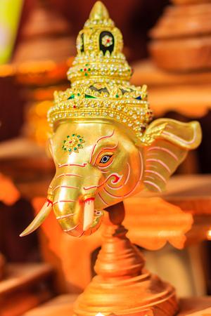 religious clothing: Beautiful Ganesha Native Thai style mask, use in royal performance, Khon.