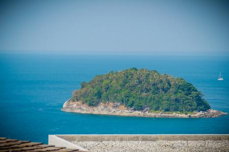 Beautiful view of Koh Pu (Crab Island). A small island peaceful island nearby Kata beach, Phuket, Thailand.