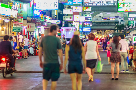 adult sex: Bangkok, Thailand - January 29, 2017: Tourist visited Soi Patpong and Soi Thaniya, the red light district at the heart of Bangkoks sex industry.