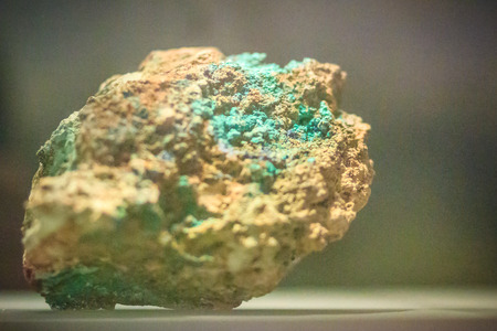 hydroxide: Raw specimen of Malachite stone from mining and quarrying industries. Malachite is a copper carbonate hydroxide mineral, with the formula Cu2CO3(OH)2.