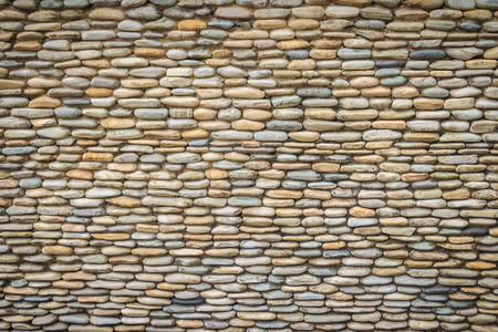 Beautiful River Pebble Wall Background. Seamless pebble stone floor and wall pattern arranged for texture wallpaper.