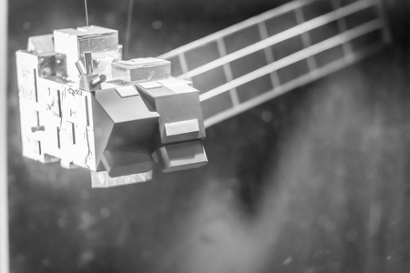 Bangkok, Thailand - November 4, 2017: Model of Advanced Land Observation Satellite, ALOS, also called Daichi, developed by JAXA (Japan Aerospace Exploration Agency) at Bangkok Planetarium, Thailand.