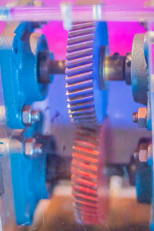 Sample product set of helical gear. Helical or dry fixed gears offer a refinement over spur gears. The leading edges of the teeth are not parallel to the axis of rotation, but are set at an angle.